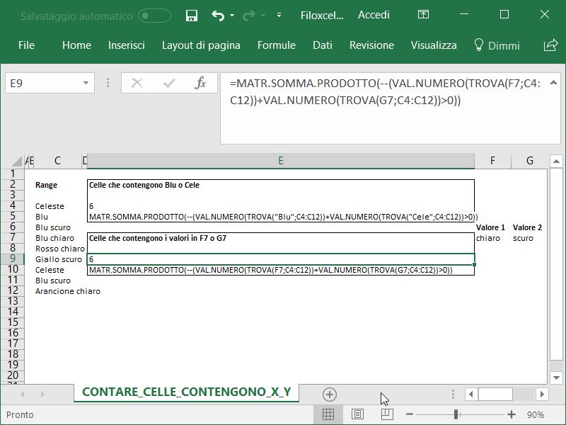Microsoft_Excel_Contare_Celle_Contengono_X_Y_Cella