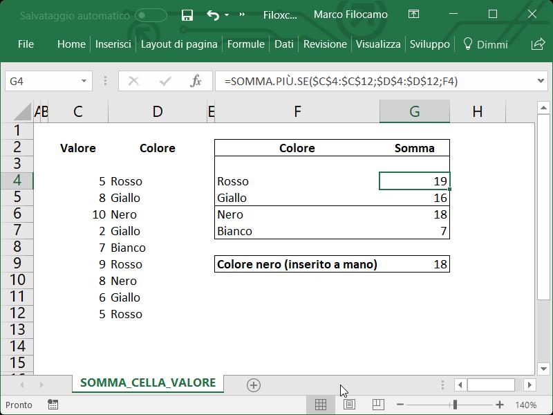 Microsoft_Excel_Somma_Celle_Condizione_Testo