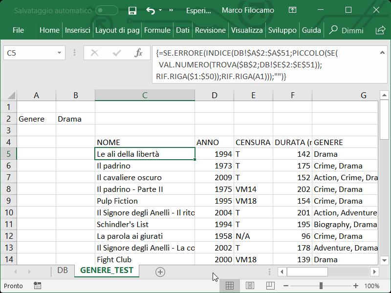 Microsoft_Excel_DB_Ricerca_Genere_Array