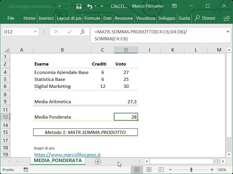 Microsoft_Excel_Media_Ponderata_Matr_Somma_Prodotto