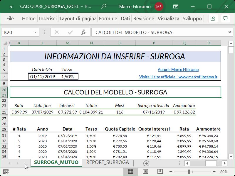 Microsoft_Excel_Calcolare_Surroga_Mutuo_Cambiamento