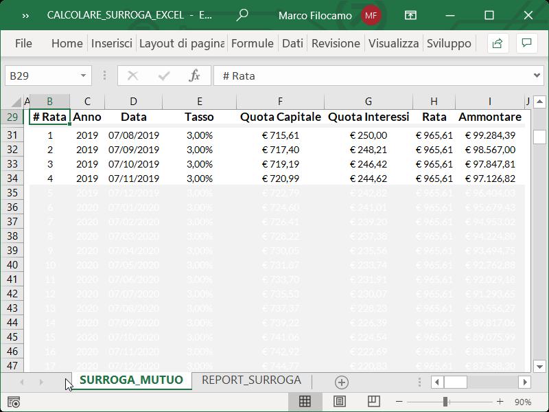 Microsoft_Excel_Calcolare_Surroga_Mutuo_Formattazione_Condizionale