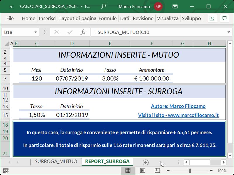 Microsoft_Excel_Calcolare_Surroga_Mutuo_Report