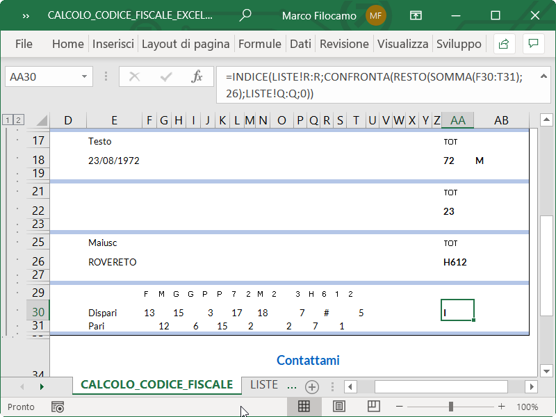 Microsoft_Excel_Calcolo_Codice_Fiscale_Carattere_Controllo