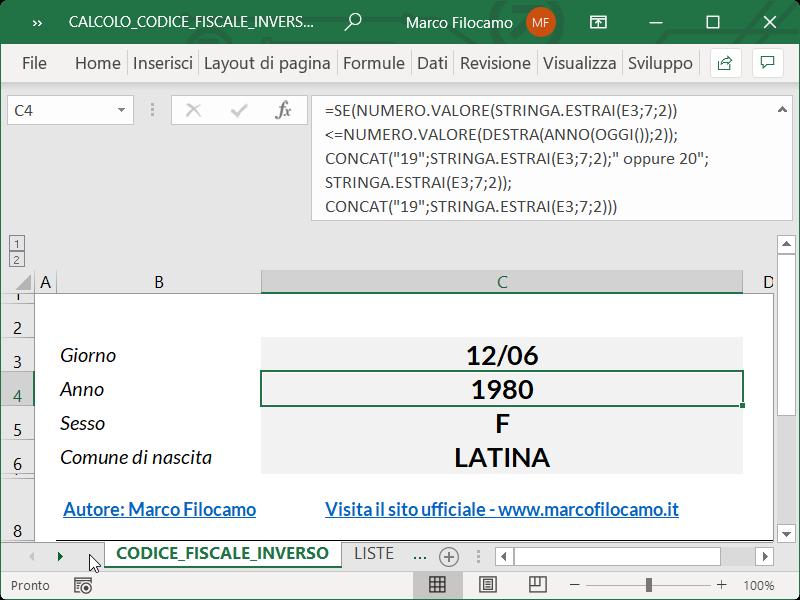 Microsoft_Excel_Calcolo_Codice_Fiscale_Inverso_Anno_Nascita