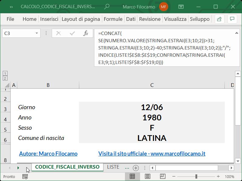 Microsoft_Excel_Calcolo_Codice_Fiscale_Inverso_Data_Nascita