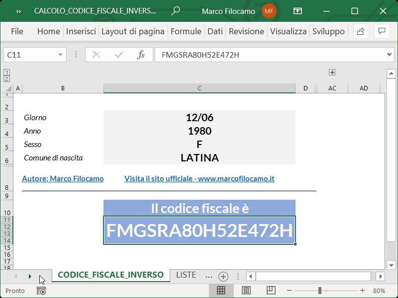 Microsoft_Excel_Calcolo_Codice_Fiscale_Inverso_Totale