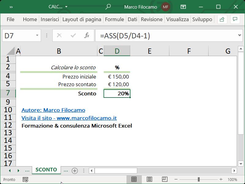 Microsoft_Excel_Calcolo_Calcolare_Sconto
