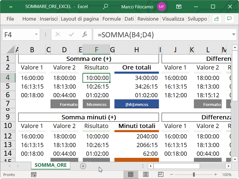 Microsoft_Excel_Sommare_Ore_Somma