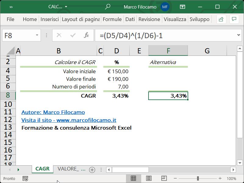 Microsoft_Excel_Calcolo_CAGR_No_Funzione