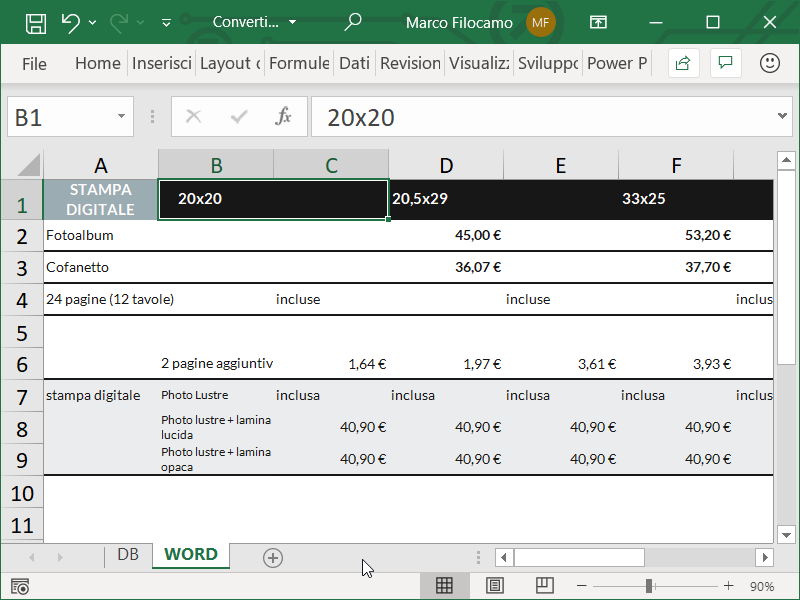 Convertire PDF in Excel Word 2