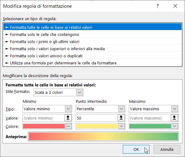 Formattazione Condizionale Excel Scale Colori Modifica Colori