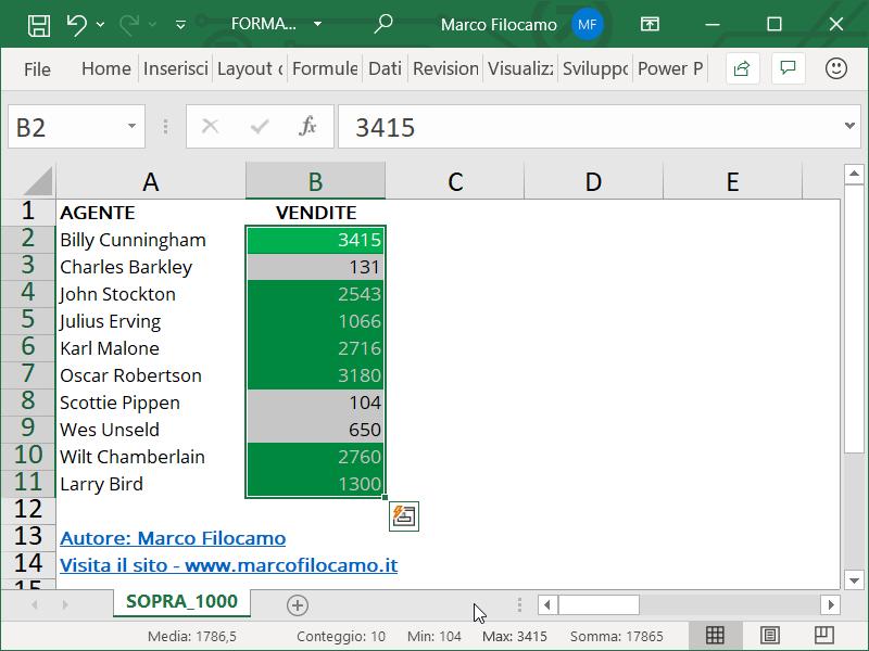 Formattazione Condizionale Excel Superiori Fine Numeri