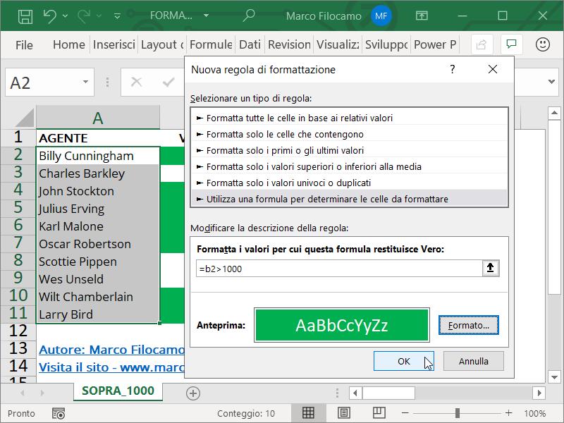 Formattazione Condizionale Excel Superiori Inserimento Formula