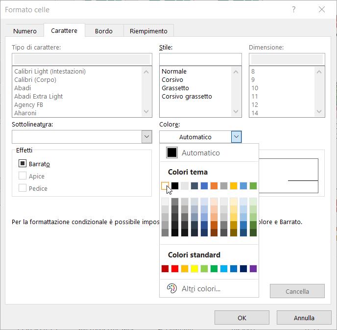 Formattazione Condizionale Excel Superiori Scelta Colore
