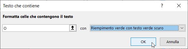 Formattazione Condizionale Excel Testo Contiene Condizione