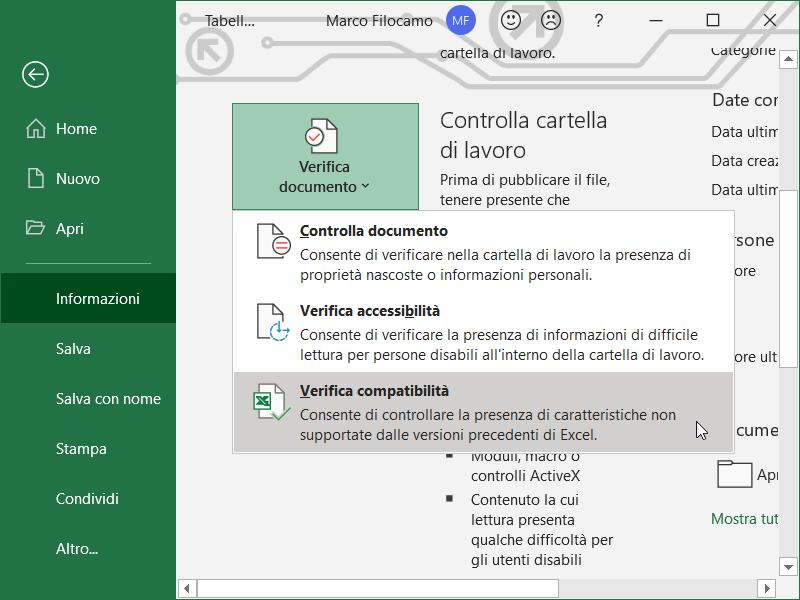 Compatibilità_Excel_Schermata_Verifica_Compatibilità_Informazioni