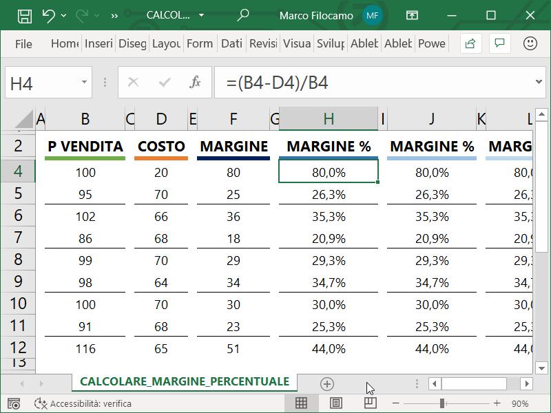 Microsoft_Excel_Calcolare_Margine_Percentuale