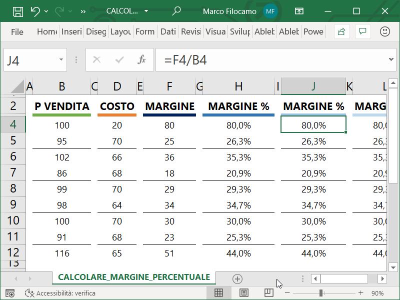 Microsoft_Excel_Calcolare_Margine_Percentuale_Velocemente